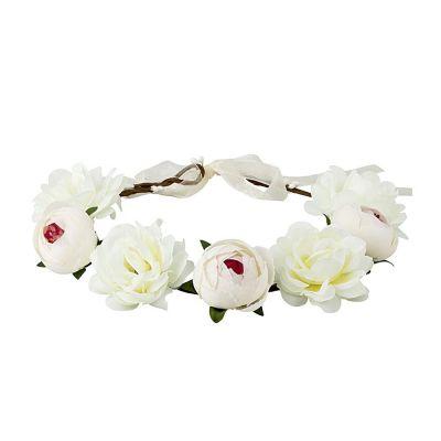 Weißer Blumenkranz als JGA-Kopfschmuck