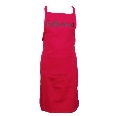 Pinke JGA Kostüm-Schürze mit Top Husband-Motiv für Männer