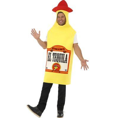Mann im Tequila-Kostüm