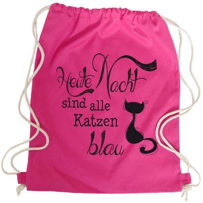 Pinkfarbener JGA-Rucksack mit Katzen-Motiv
