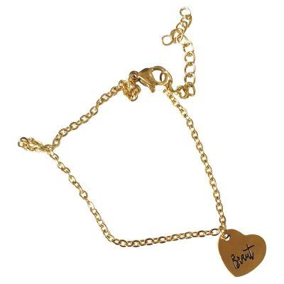 Goldfarbene JGA-Braut-Armkette mit Herz-Schmuck-Anhänger
