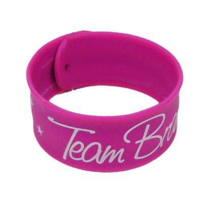 JGA Schnapparband Team Braut - Pink mit Sternen