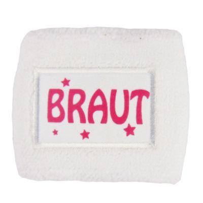 Weißes Schweissband mit Braut-Motiv