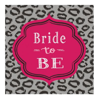 Servietten mit Bride to be-Motiv als JGA-Deko