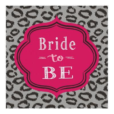 Servietten mit Bride to be-Motiv als JGA-Deko