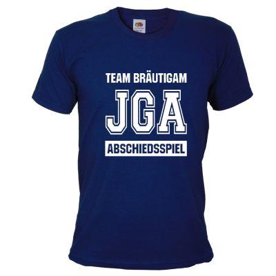 Abschiedsspiel - Blaues JGA T-Shirt im Football-Design