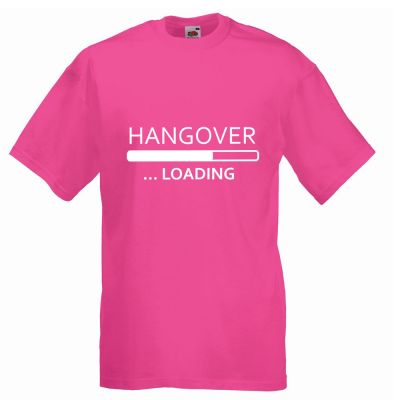 Junggesellenabschied-T-Shirt Hangover Loading in Pink