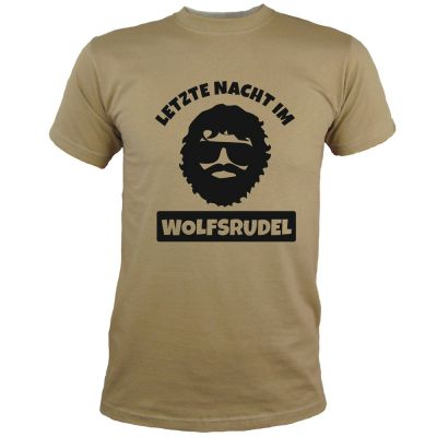 JGA T-Shirt Wolfsrudel mit Alan-Motiv - Hangover - Khaki