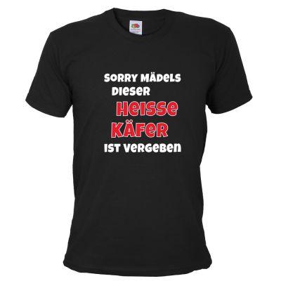 Schwarzes Herren T-Shirt mit Heisser Käfer-Motiv