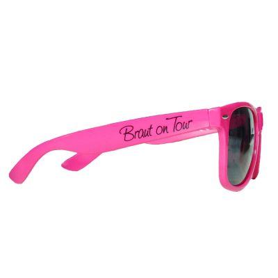 Pink Braut on Tour-Sonnenbrille als JGA-Accessoire