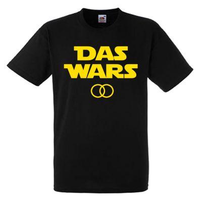 """Schwarzes JGA-Shirt mit """"Das Wars""""-Motiv"""