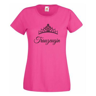 Pinkfarbenes JGA T-Shirt mit Trauzeugin-Motiv