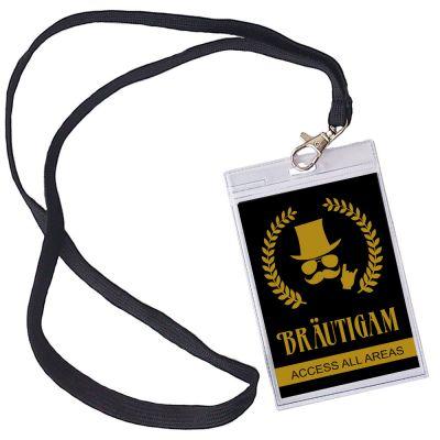 Bräutigam VIP Pass für den JGA - Schwarz-Gold