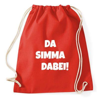 Fasching-Rucksack mit Da simma dabei-Motiv