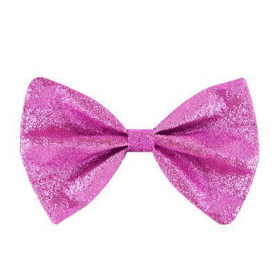 Pinkfarbene Glitter-Fliege für JGA und Fasching