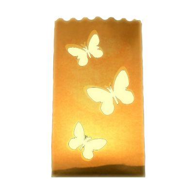 Lichttüte mit Schmetterling-Motiven