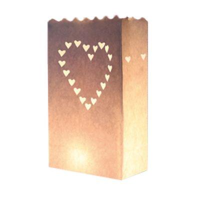 Hochzeit-Lichttüten aus Papier mit Herzen