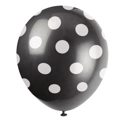 Schwarzer Luftballon mit weißen Punkten
