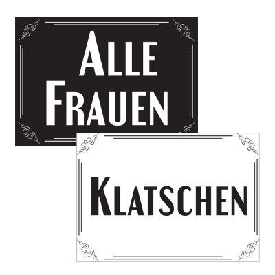 Schilder für lustige Hochzeitsreden - Idee für Trauzeugen
