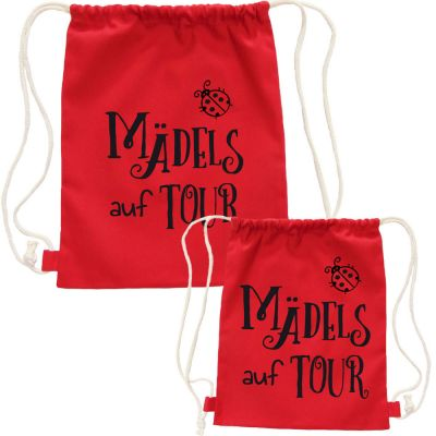 Mama-Tochter Rucksack-Outfit Mädels auf Tour - Rot