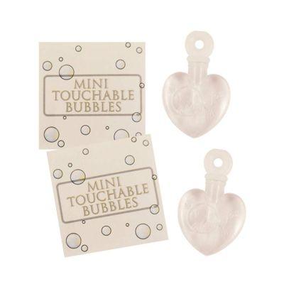 Hochzeit-Seifenblasen in Herz-Fläschchen