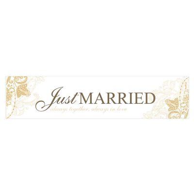 Just Married-Nummernschild für das Hochzeitsauto
