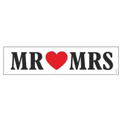 Auto-Nummernschild mit Aufdruck Mr und Mrs