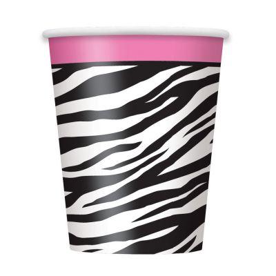 Pappbecher im Zebra-Design