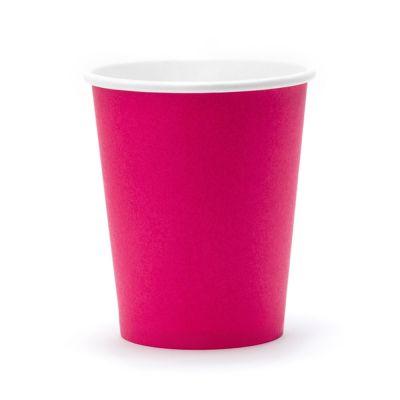 Pinkfarbene Pappbecher