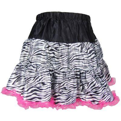 Zebra-Kostüm-Rock in Damen-Größe für Fasching