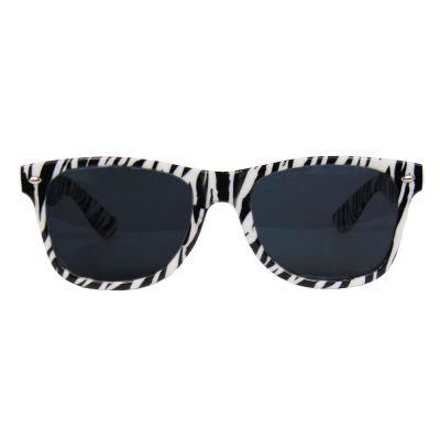 Fasching - Fun-Brille mit Zebra-Muster