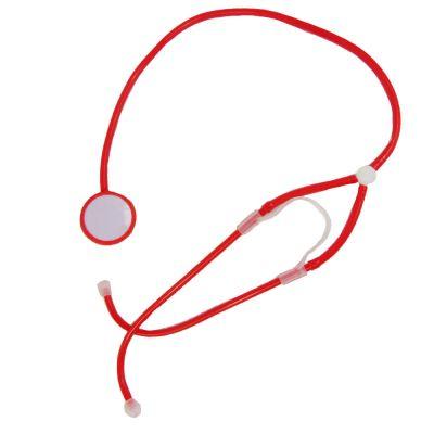 Rotes Fun-Stethoskop für Fasching