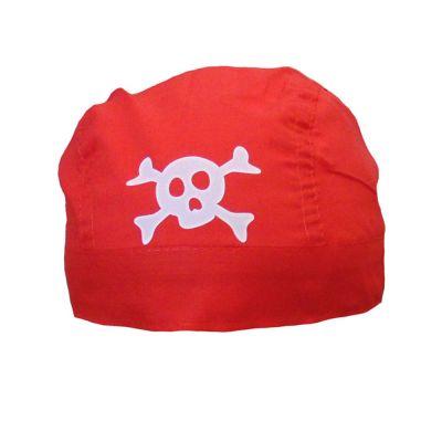 Rotes Piratenkopftuch - Piraten-Bandana für Fasching