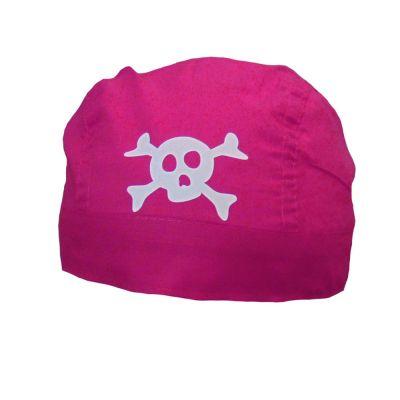 Pinkfarbenes Piratenbraut-Kopftuch - Piraten-Bandana für Damen