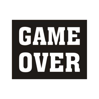 Aufkleber für Hochzeitsschuhe mit Aufschrift Game Over