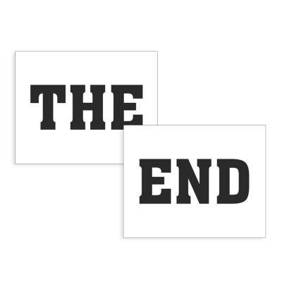"""Schuhsticker mit Aufdruck """"The end"""""""