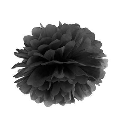 Schwarzer Deko-Pom-Pom