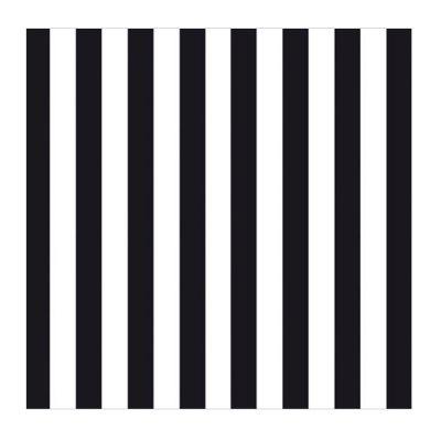 Schwarz und weiß gestreifte Papierservietten