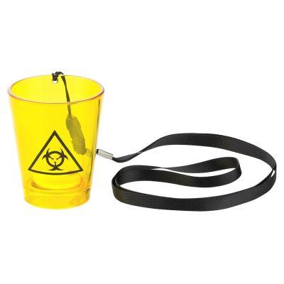 Umhänge-Shotglas mit Biohazard-Motiv