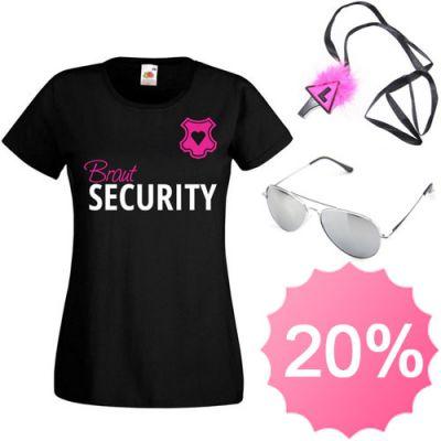 JGA Kostüm mit T-Shirt, Trillerpfeife und Sonnenbrille