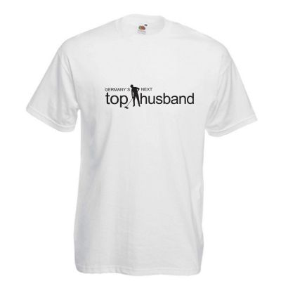 JGA-Shirt  in Weiss mit Aufdruck Germany`s Next Top Husband