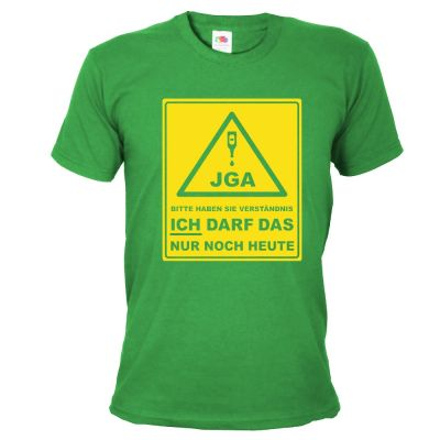 JGA-Shirt Bitte haben Sie Verständnis - Bräutigam - Grün
