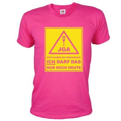 JGA-Shirt Bitte haben Sie Verständnis - Bräutigam in Pink