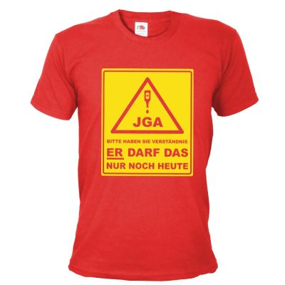 JGA-Shirt Bitte haben Sie Verständnis - Gruppe - Rot