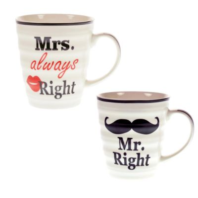 Tassenset Mr Right und Mrs Always Right