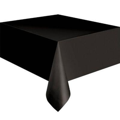Schwarze Plastik-Tischdecke
