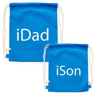 Vater-Sohn Partnerlook-Rucksäcke iDad und iSon
