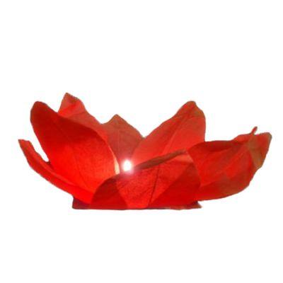 Rote Wasserlaterne in Rosenform