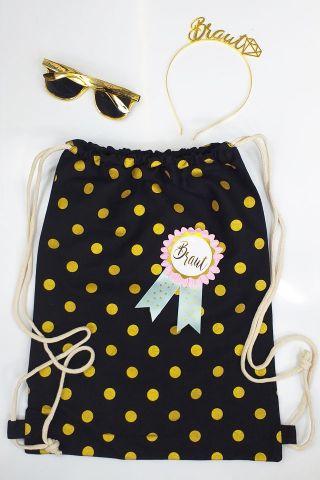 Goldfarbene Damen JGA-Accessoires für die Braut