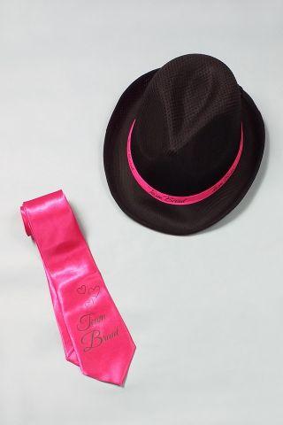 JGA Accessoires Frauen - Team Braut - Pink-Schwarz